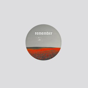 Poppy Field - Remember Mini Button